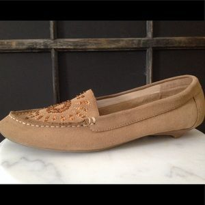 KENNETH COLE Reaction Tan Sequin Flats Shoes